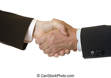 Handshake of businessman after contract signing