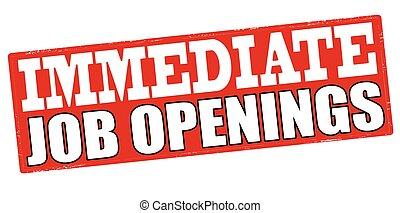 Immediate job wanted - Stamp with text immediate job wanted...