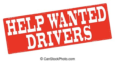Help wanted - Stamp with text help wanted inside, vector...