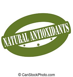 Natural antioxidants - Stamp with text natural antioxidants...