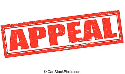 Appeal - Stamp with word appeal inside, vector illustration