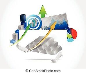silver bars business concept illustration design over a...