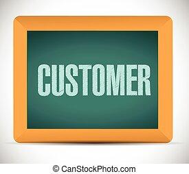 customer board sign illustration