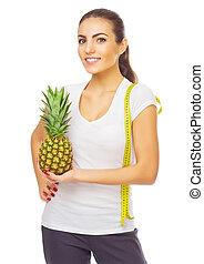 女孩, 被隔离, 菠蘿