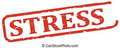 Stress - red stamp