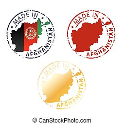made in Afganistan stamp