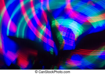 Light in Movement - Colorful background with abstract light...