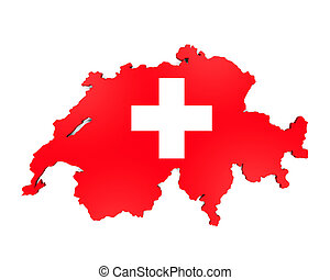 Map of Swiss Isolated - Map of Swiss isolated on white...