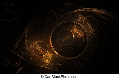 Orange Fractal - Digitally generated fractal texture of...