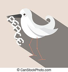 Dove Bird with Paper Peace Title