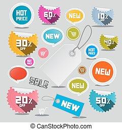 Sale Vector Labels Set