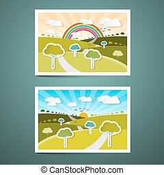 Landscapes Vector Illustrations