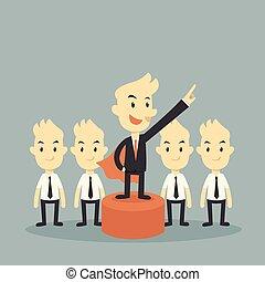 leader - super businessman leader concept