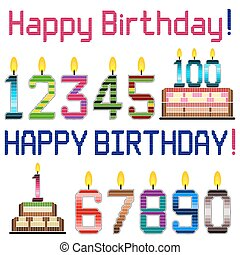 Happy Birthday - Happy birthday greeting theme design...