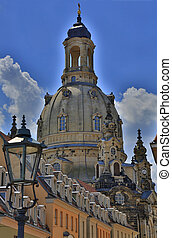 Dresden, Germany, architecture - Dresden, the central area,...