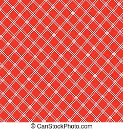 Vintage red and white tablecloth