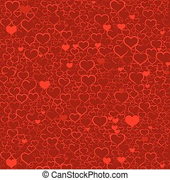 Colorful Valentines day background with hearts, vector