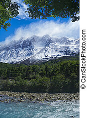Los Glaciares National Park - Scenic view of clouds passing...