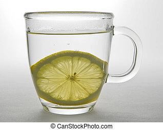Lemon Slice in Glass Mug 2