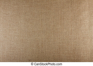 Closeup of brown textured surface, burlap texture background...