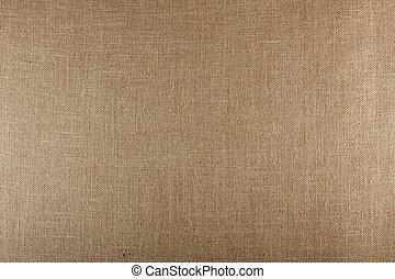 Closeup of brown textured surface, burlap texture...