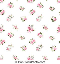 seamless cute vintage rose pattern - seamless cute vintage...