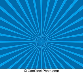 Retro Sunburst Backdrop - Abstract Blue Sunburst Vector...