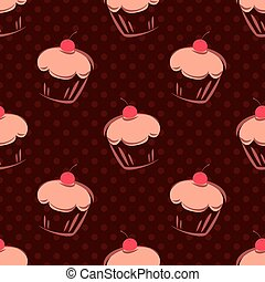 Tile vector cake dots background