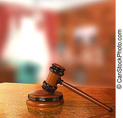 Gavel, jurídica,  3D