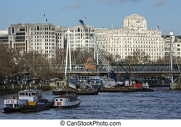 River Thames - London - England - The River Thames in...