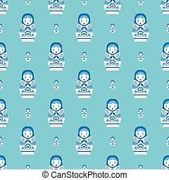 russian doll matreoshka seamless pattern