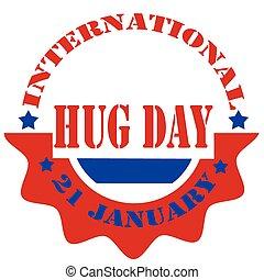 International Hug Day-label