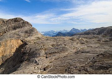 Dolomites view near San martino di Catrozza, Italy