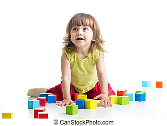 child girl playing toys