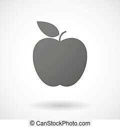apple icon on white background - apple icon with shadow on...