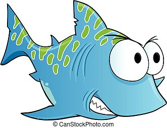 Blue Tough Shark Vector art