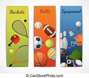 Sports vertical banners - Outdoor sport activities squash...