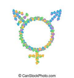 transgender, symbol, heiligenbilder,