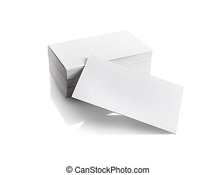 Business cards on white background Template for branding...