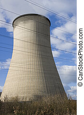 cooling tower - his is a cooling tower from a coal-burning...