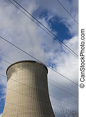 cooling tower - this is a cooling tower from a coal-burning...