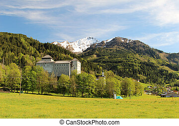 Kaprun Burg Castle in Austrian Alps near the town of Zell am...