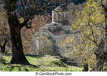 Curch in Greece - Old Byzantine church in Epirus, Greece