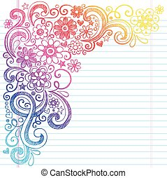 Flowers School Sketch Doodle Vector - Flower Power Back to...