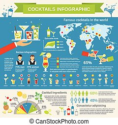 Cocktails consumption infographic presentation - Cocktail...