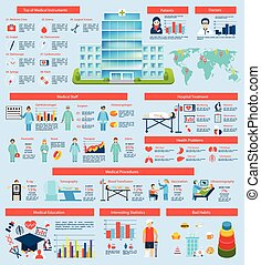 Medical Infographic Set - Medical infographic set with...