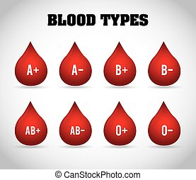 blood types design, vector illustration eps10 graphic