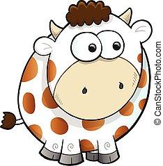 Silly Farm Cow Vector Illustration