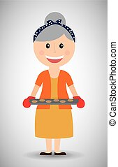 grandmother day - grandmothers day design, vector...