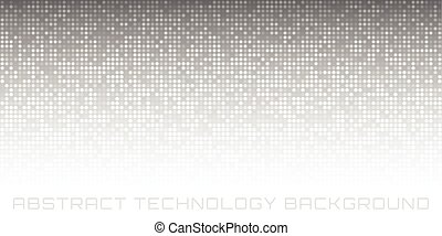 Abstract Gray Technology Horizontal Background, vector...